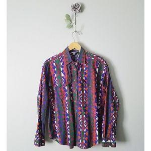 Vintage | Southwestern Long Sleeve Blouse Top